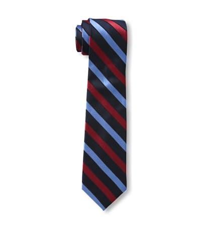 Ben Sherman Men's Stripe Tie, Navy/Red