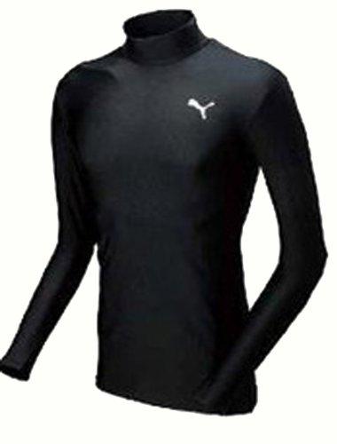 (プーマ)PUMA モックネック ロングスリーブ シャツ 900478 01 ブラック L