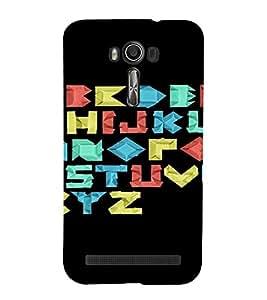 PrintVisa Alphabets Design 3D Hard Polycarbonate Designer Back Case Cover for Asus Zenfone 2 Laser ZE500KL