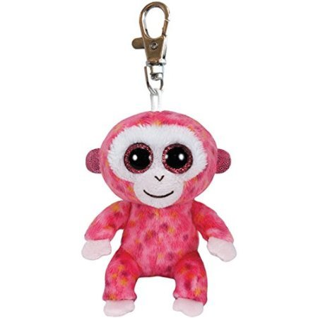 Ty Beanie Boos Ruby - Red Monkey Clip - 1