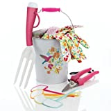 Ladies Garden Gift Set from Avon - Gloves, Trowel, Fork and BUCKET