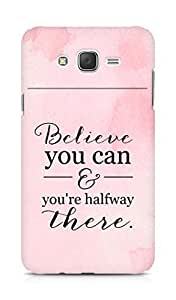 AMEZ believe you can and you are there halfway Back Cover For Samsung Galaxy J7