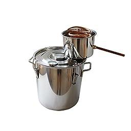 5 Gal 18L Water Moonshine Still Stainless Steel Boiler Alcohol Home Distiller