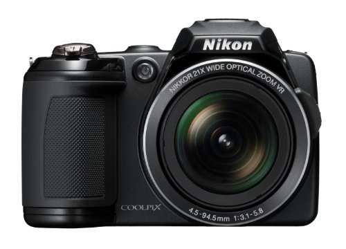 Nikon Coolpix L120 Digital Camera - Black (14MP, 21x Optical Zoom) 3-inch LCD