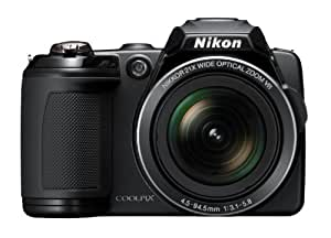 Nikon Coolpix L120 Digitalkamera (14 Megapixel, 21-fach opt. Zoom, 7,5 cm (3 Zoll) Display, HD Video, bildstabilisiert) schwarz