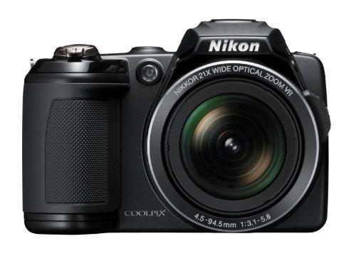 Nikon Coolpix L120 Digital Camera - Black (14MP,