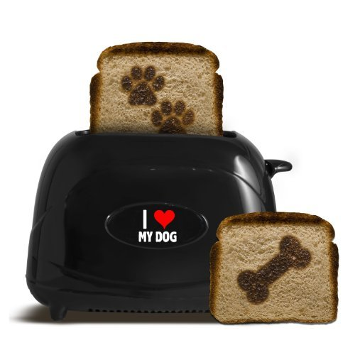 Pangea 2-Slice Pet Emblazing Toaster, I Love My Dog