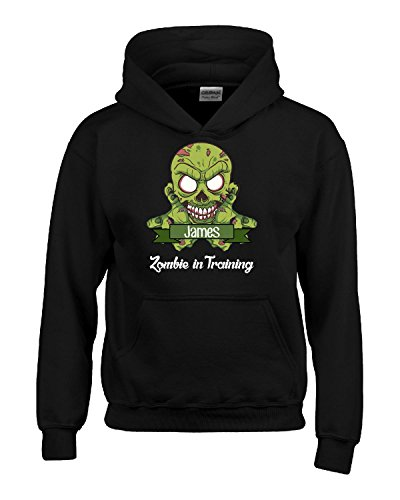 Halloween Costume James Zombie In Training Funny College Humor Gift - Kids Hoodie