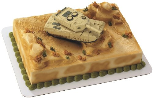 Military Robot Tank DecoSet Cake Decoration