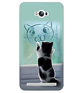 PrintDhaba CAT IMAGE D-6269 Back Case Cover for ASUS ZENFONE MAX ZC550KL (2016) (Multi-Coloured)