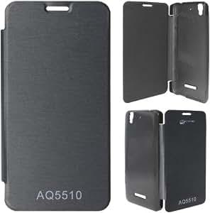 Adbeni Flip Cover for Micromax Yu Yureka AQ5510 Black