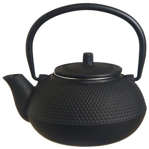 New Star International 40Oz Hobnail Cast Iron Teapot (Black)