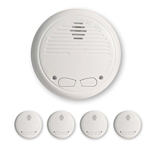 4 Nemaxx WL2 Funkrauchmelder Rauchmelder Brandmelder Set Funk koppelbar vernetzt - nach EN 14604