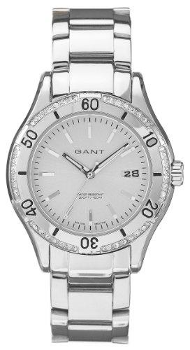 GANT Malibu W10214 - Reloj de mujer de cuarzo, correa de acero inoxidable color plata