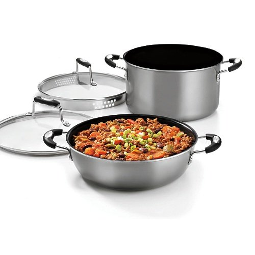 Cuisinart WWA4-22P24 Weight Watchers 4-Piece Aluminum Simmer/Braise Set