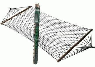 Nylon Hammock with Spread Bars (Includes Carry Bag) 200lb Limit