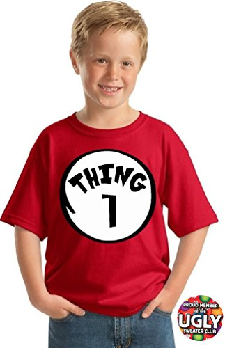 icustomworld Youth Thing 1 and Thing 2 shirts (M, Thing 1)