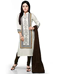 Vastra Vinod Off White Cotton Readymade Kurti With Legging