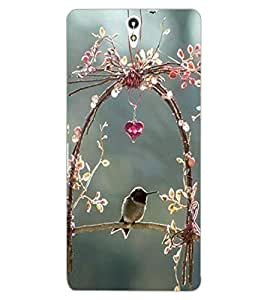 ColourCraft Lovely Bird Swing Design Back Case Cover for SONY XPERIA C5 ULTRA