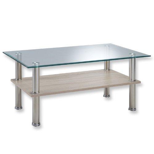 Presto mobilia Couchtisch Tabea 25 100x60x45 cm Sonoma Eiche hell/Eiche sägerau hell