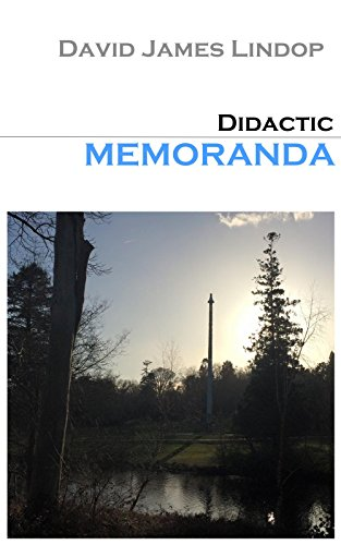 Book: Didactic Memoranda - An Agnostic Approach To Grace by David James Lindop