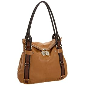 Tignanello Soft Touch Colorblock Flap Tote