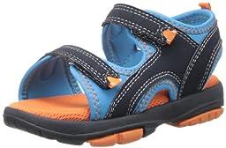Natural Steps Rascal Fisherman Sandal (Infant/Toddler),Blue/Orange Nubuck,10 M US Toddler