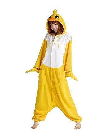 Keral Pikachu Pyjama Cospaly Party Fleece Costume Adulte Unisexe_Canard_L