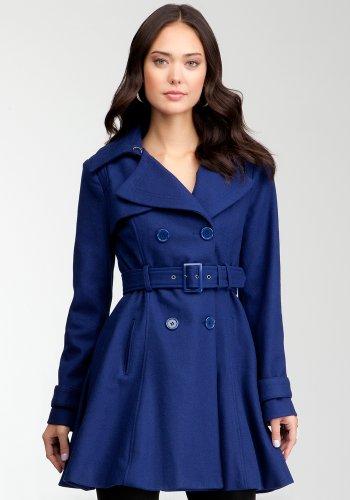 bebe Fit & Flare Wool Coat