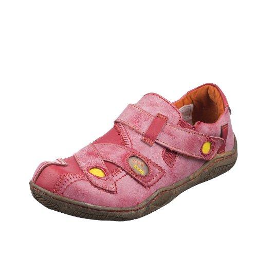 TMA EYES 1339 Sandalette Gr.36-42 mit bequemen perforiertem Fußbett , Leder 39.35 super leichter Schuh der neuen Saison. ATMUNGSAKTIV in Rot Gr. 36