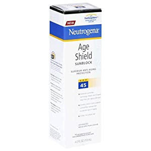Neutrogena Age Shield Sunblock with Helioplex SPF#45 4 oz.