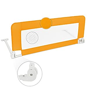 TecTake Barrera de cama 102 cm naranja por TecTake