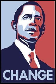 バラク・オバマ BARACK OBAMA アメリカ合衆国大統領 change ポスター フレームセット