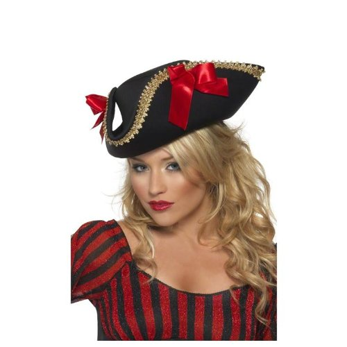 Smiffy's Fever Pirate Hat – Black and Red