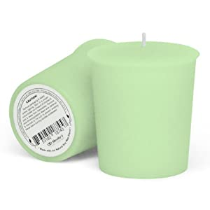 Single Cucumber Melon Scented Soy Votive Candle