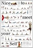Yoga-Poster mit 67 Asanas, Nice to meet Your Self