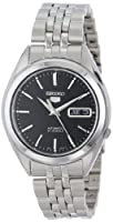 Seiko Men's SNKL23 Seiko 5 Automatic Black Dial Stainless-Steel Bracelet Watch by Seiko