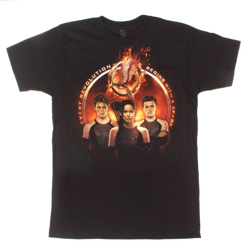 The Hunger Games: Catching Fire Golden Trio T-Shirt Size : X-Large