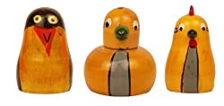Crafts'man Set of 3 Cute Colored Wooden Animal/Bird Shape Sharpener