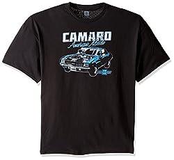 General Motors Men's Classic Camaro T-Shirt, Black, 5X-Large
