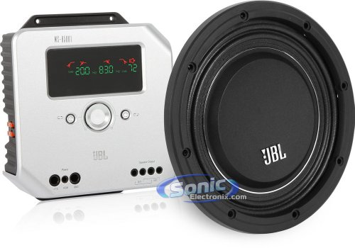 Jbl Ms-10Sd4 Slim Subwoofer + Jbl Ms-A5001 1500W Ms Series Compact Installation Car Audio Bass Package