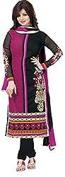 Meghali Women's Cotton Unstitched Salwar Suit (MGHR2D05_Black_Free Size)