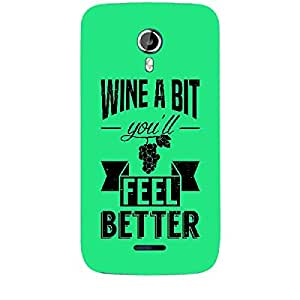 Skin4gadgets Awesome Wine & Dine Quotes, Pattern 13, Color - Dark Orange Phone Skin for CANVAS MAGNUS (A117)