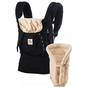 Ergobaby Bundle of Joy Carrier & Insert - Black/Camel