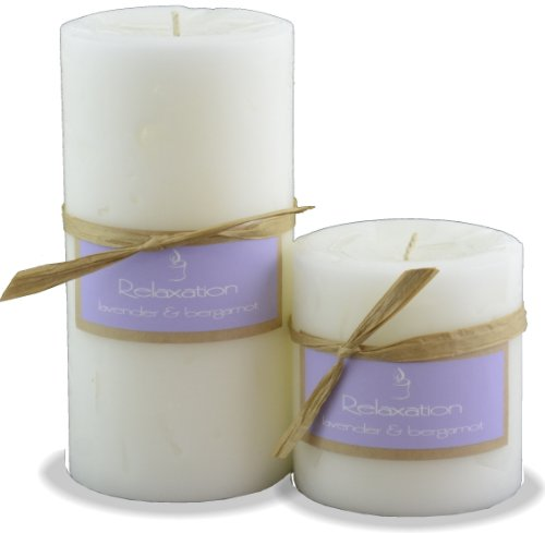 RELAXATION Lavender Bergamot and Oak Moss Scented Jar Candle Made in USA (3x3 Pillar)