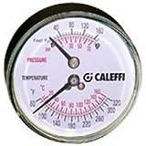 Caleffi NA503040 Boilers Temperature Gauge/Dual Pressure Indicator, 1/4-Inch NPT Connections