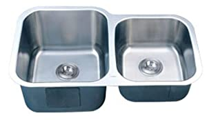 Stainless Steel Kitchen Sink Under-Mount Double-Bowl 16 G LI-300