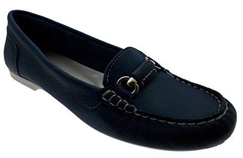 mocassino pelle blu avio jeans morsetto art 442 36 blu