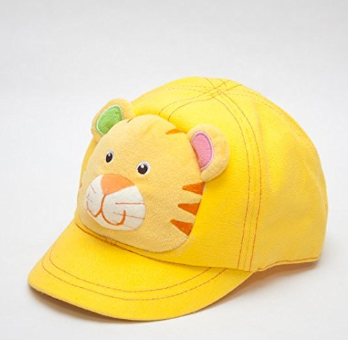 Capped Children Animal Tiger Hat Yellow Hat Size Adjustable Strap On The Back. front-493185