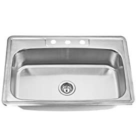 Topmount Stainless Steel Single Bowl Kitchen Sink